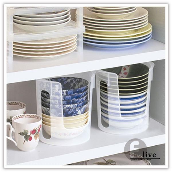 【aife life】碗盤整理架/廚房收納/多功能小碗盤 餐具 收納筒/直立式/小碗收納桶/櫥櫃收納架