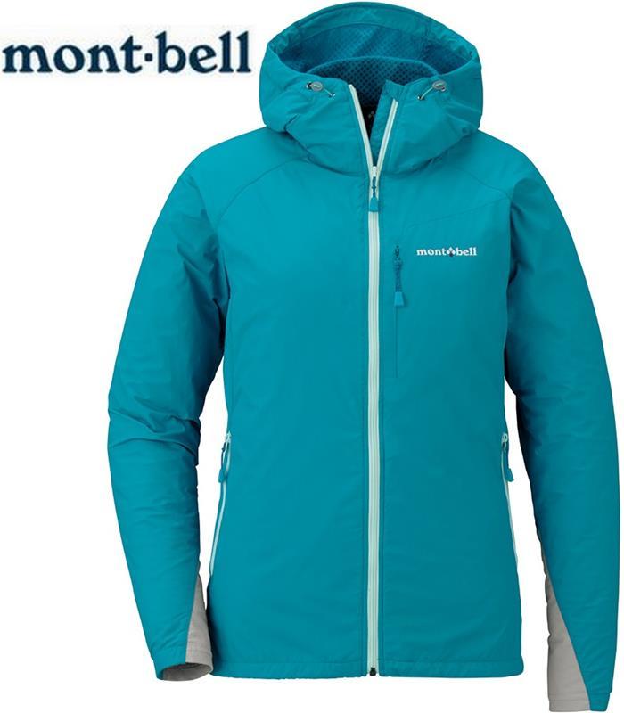 Mont-Bell 風衣外套/登山外套 防潑水保暖防風 女連帽款 1106562 TQB 青藍