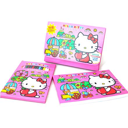 【敵富朗超巿】Kitty畫畫文具禮盒