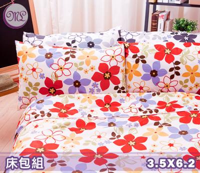 【名流寢飾家居館】朵朵花開.100%精梳棉.加大單人床包組.全程臺灣製造