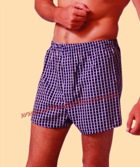 比威力針織立體剪裁印花平口褲IA1044(福利品)