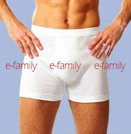 BVD全棉素色平口褲(BD225)白色