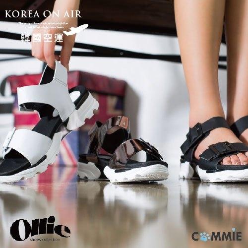 涼鞋-Ollie正韓未來感寬皮帶後扣厚底涼鞋.寶貝窩 .【CO751019】(預購)