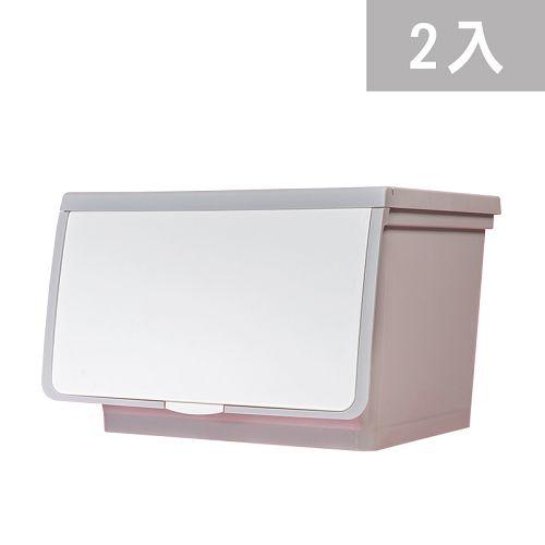 大象平方-輕透系列直取式收納箱-CM3-003二入(38L)