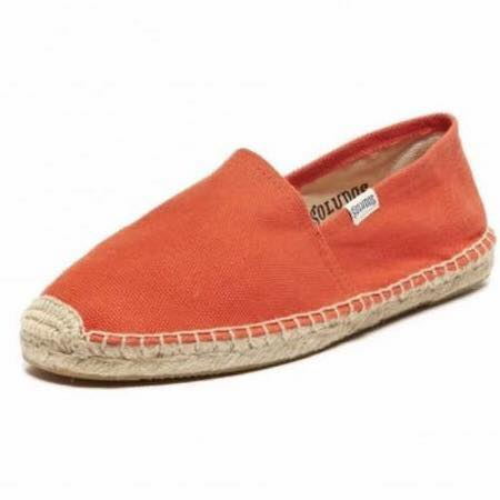 【Soludos】美國經典草編鞋-基本款草編鞋-橘