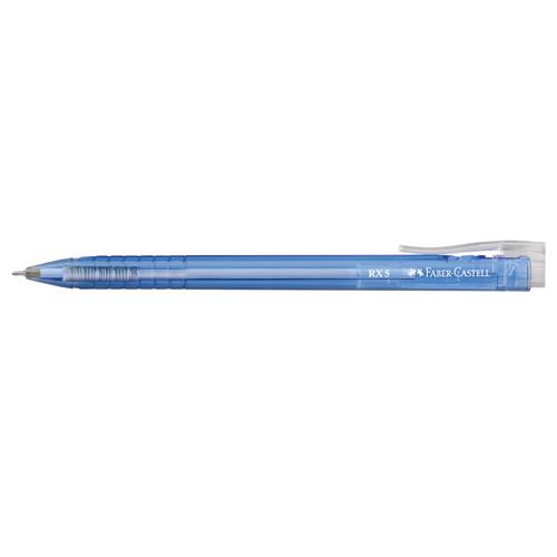 【FABER 】545351 藍色 RX-5 酷溜原子筆(10支/盒)