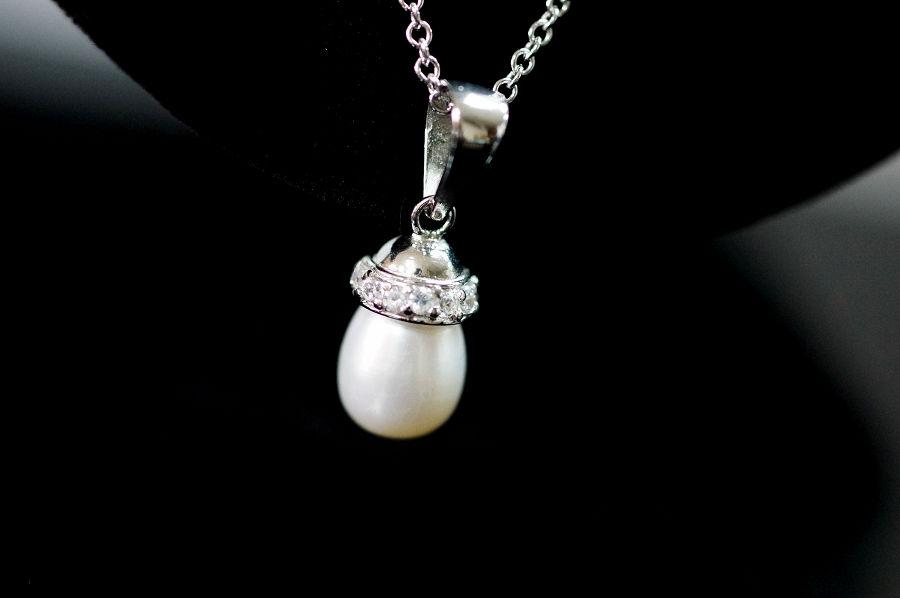 【喨喨飾品】天然珍珠墜鍊 純銀飾品 S331