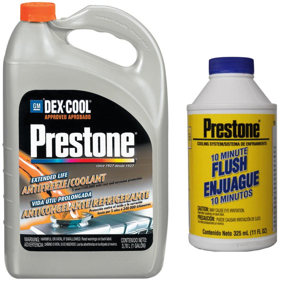 Prestone百適通濃縮極限競技型長效防凍冷卻液/水箱精AF888+10分鐘快速水箱清洗劑AS106BL