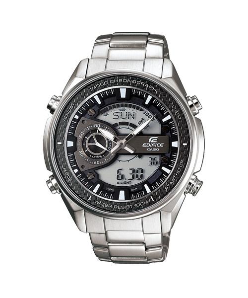 CASIO EDIFICE EFA-133D-8A奔馳雙顯運動時尚腕錶/黑面47mm