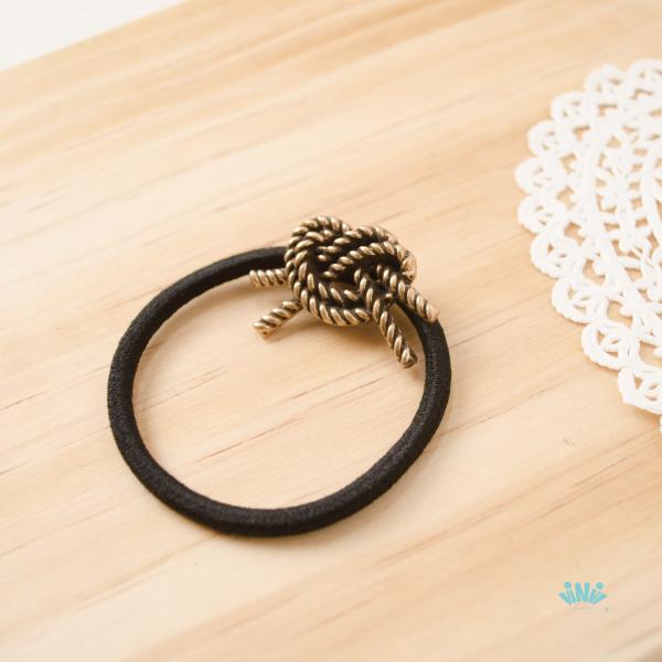 viNvi Lady 復古層次刷色繩結合金髮圈 髮束 髮飾