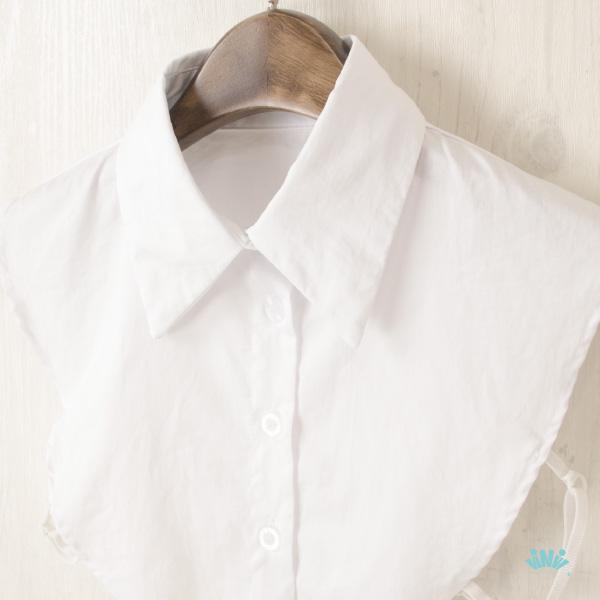 viNvi Lady 素色尖領襯衫領片 假領片 內搭領子