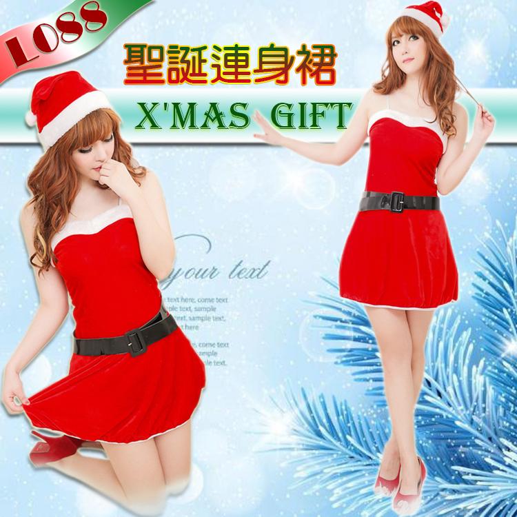 氣質淑女 聖誕服 性感聖誕裝 cosplay 夜店表演服 聖誕節 情趣性感睡衣 可愛性感短裙 L088
