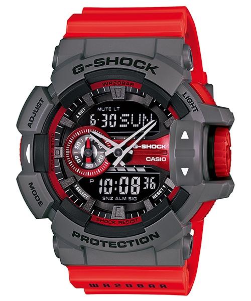 國外代購 CASIO G-SHOCK GA-400-4B 雙顯大錶面  運動防水手錶腕錶電子錶男女錶 紅灰
