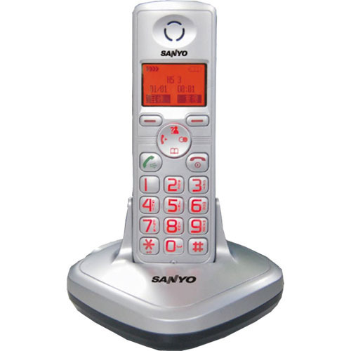 【CLT-3611】SANYO 三洋 中文字幕DECT數位無線電話 CLT-3611 銀色