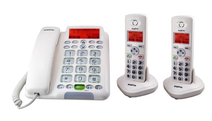 【DCT-9951-2】三洋SANYO DCT-9951 中文DECT數位子母機電話 《雙手機》