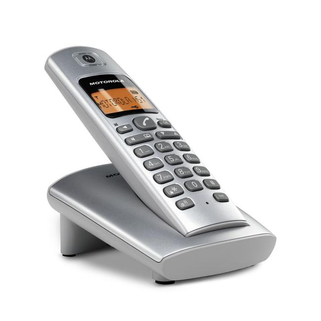 【D401】MOTOROLA摩托羅拉DECT數位無線電話 D401∥免持聽筒通話∥螢幕橘色背光顯示∥日系質感∥穿透力佳
