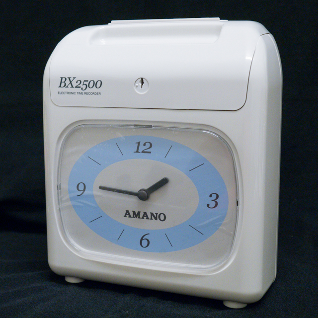 【BX2500】AMANO BX2500 六欄位電子式打卡鐘(送卡紙100張)
