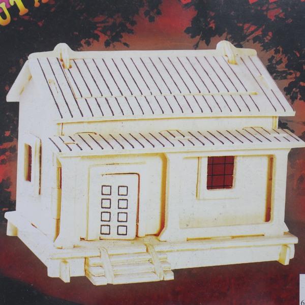 DIY木質拼圖 3D立體拼圖 木房子模型 老房子(PH002和光宅.中2片入)/一組入{促49}~四聯木質拼圖 組合式拼圖