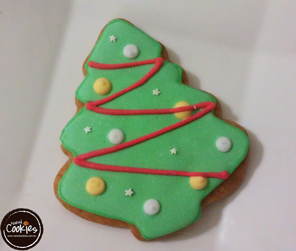 【裸餅乾Naked Cookies】聖誕樹(3)6入-創意手工糖霜餅乾,婚禮小物/生日/活動/收涎/彌月