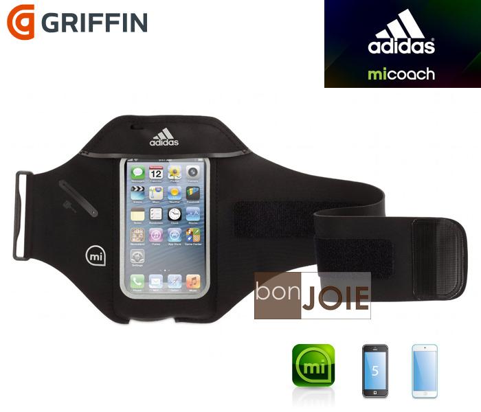 ::bonJOIE:: Griffin MiCoach Adidas Armband 運動臂帶 iPhone 5 、iPod Touch 5 專用 超輕型防水透氣布料 黑色 (全新盒裝) 運動臂掛套