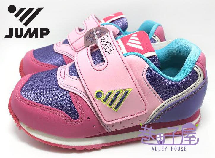 【巷子屋】JUMP 將門 女童馬卡龍超輕量復古運動慢跑鞋 [565] 粉紫 MIT台灣製造 超值價$590