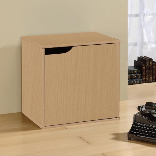 《Hopma》黃木紋單門收納櫃