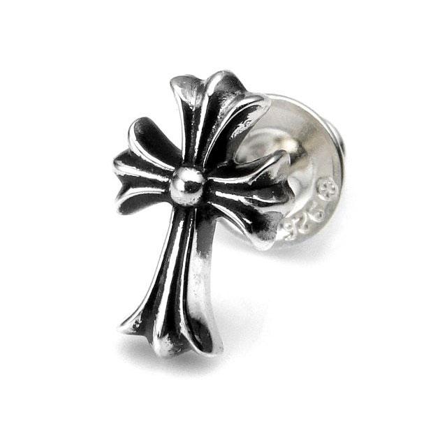 【Chrome Hearts】十字架造型純銀耳環 (CHE-037)