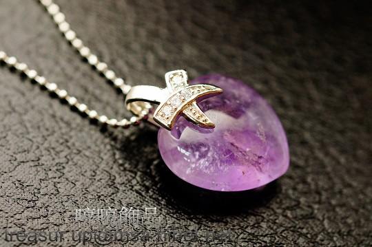紫水晶 墜飾  S925純銀墜子頭   身體能量的淨化與提昇。增進人緣、多遇貴人。M92