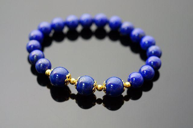 青金石手鍊   佛教中的(琉璃),青金石即代表藥師佛, 以此青金石常唸(南無藥師琉璃光如來),即可消災延壽保平安。N235