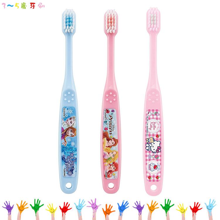大田倉 日本進口正版 迪士尼公主 冰雪奇緣 凱蒂貓 兒童用牙刷 3-5歲牙刷 浴室衛浴 盥洗用具
