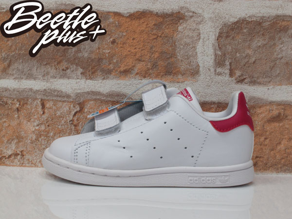 童鞋 BEETLE ADIDAS ORIGINALS STAN SMITH CF I 白 童紅 魔鬼氈 B32704