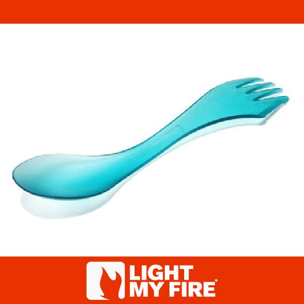 萬特戶外運動-瑞典LIGHT MY FIRE 魔術湯匙 透明藍 刀叉匙 三合一 不含雙酚A 兒童 環保 露營 戶外餐具