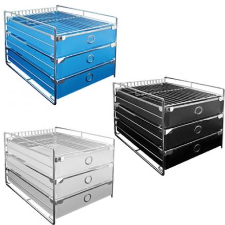 【力大 ABEL  收納櫃】ABEL 60752 藍/黑/白  歐式三層收納櫃(A4)
