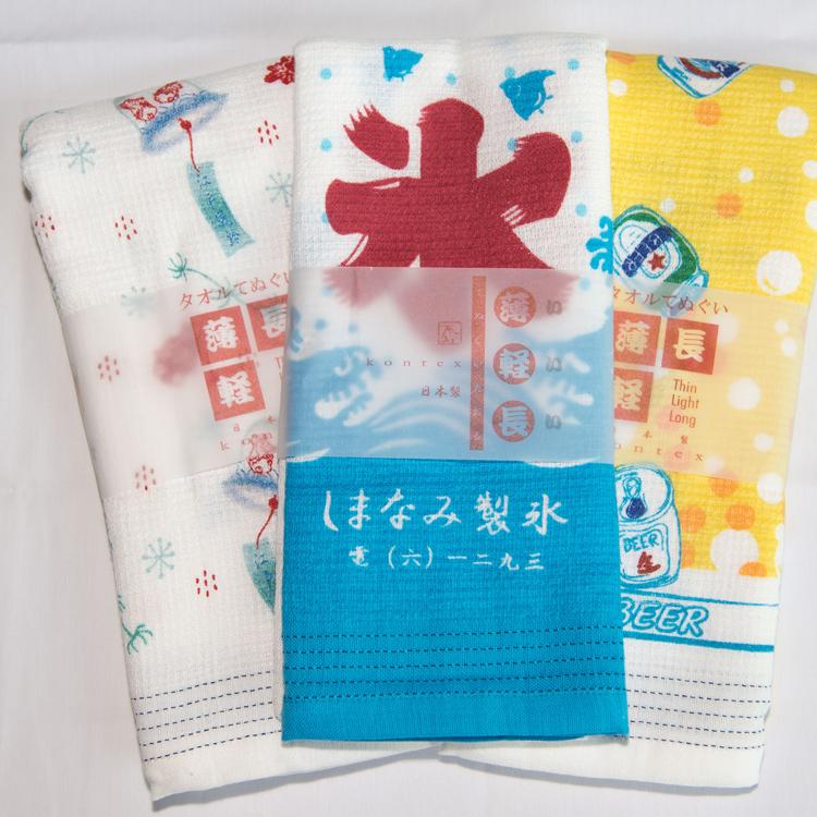 冰字 毛巾浴巾圍巾頭巾多功能 薄輕長 100%綿 也可當裝飾 Kontex日本製