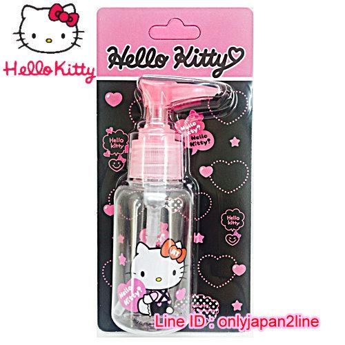 【真愛日本】16101900017擠壓瓶75ML-KT抱抱桃心  三麗鷗 Hello Kitty 凱蒂貓 收納盒/擠壓瓶/噴霧瓶  旅用組