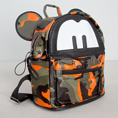 LINAGI里奈子精品【H843-93-25】可愛俏皮圖樣設計迷彩風格可放IPAD百搭後背包