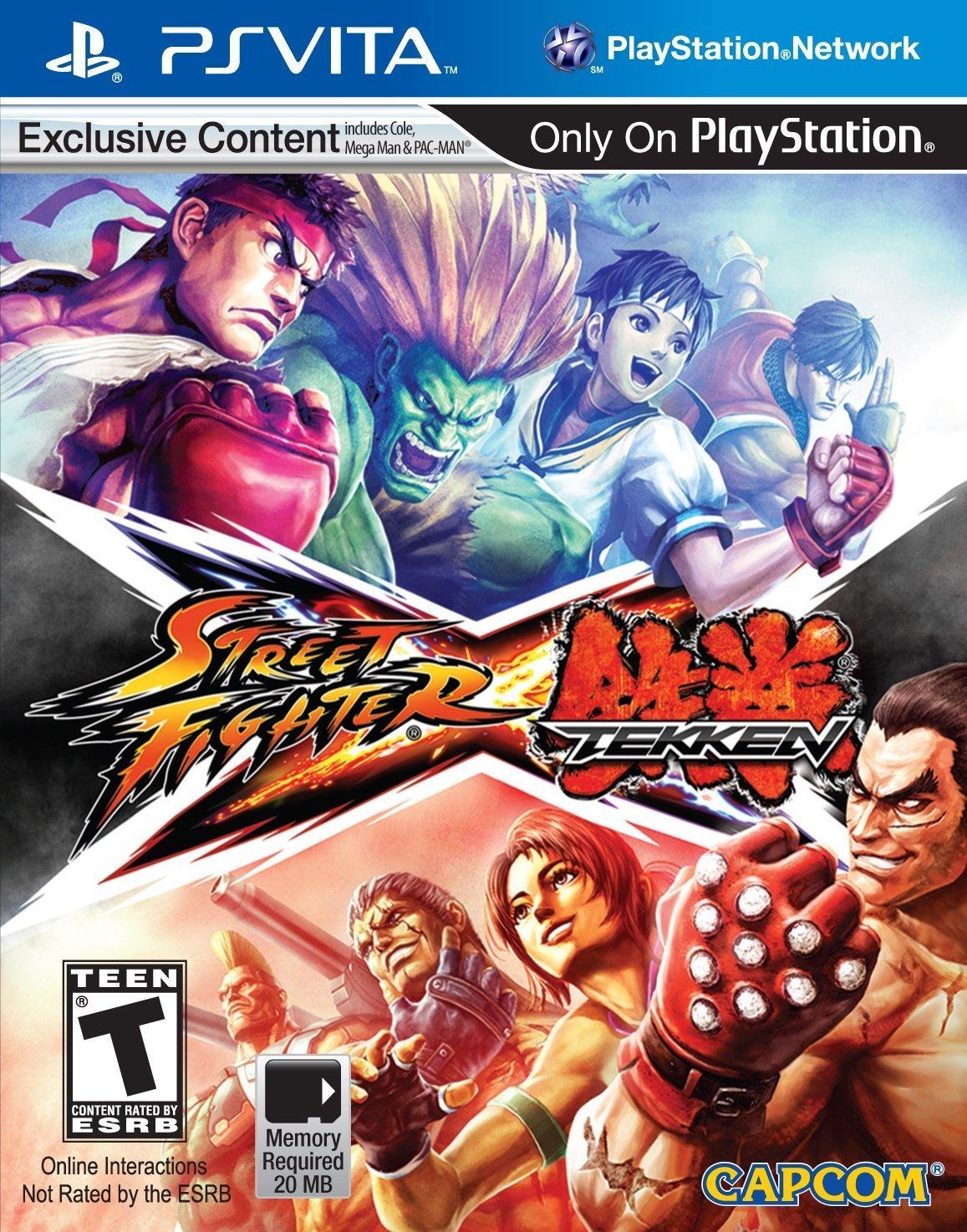 PSV  快打旋風 X 鐵拳(含12名追加角色包下載卡) -英日文美版- Street Fighter X Tekken