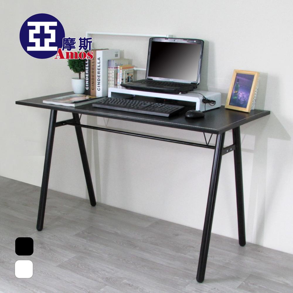 (特賣)電腦桌 辦公桌 書桌【DCA009】環保粗管120公分仿馬鞍A型大桌面工作桌【2色可選】 Amos 台灣製