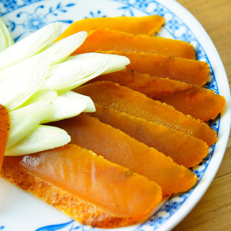 (免運)【唐墨烏魚子】台灣烏金 野生碳燒烏魚子—精緻小禮盒(60g±5%)x1 ★ 外銷日本等級烏魚子