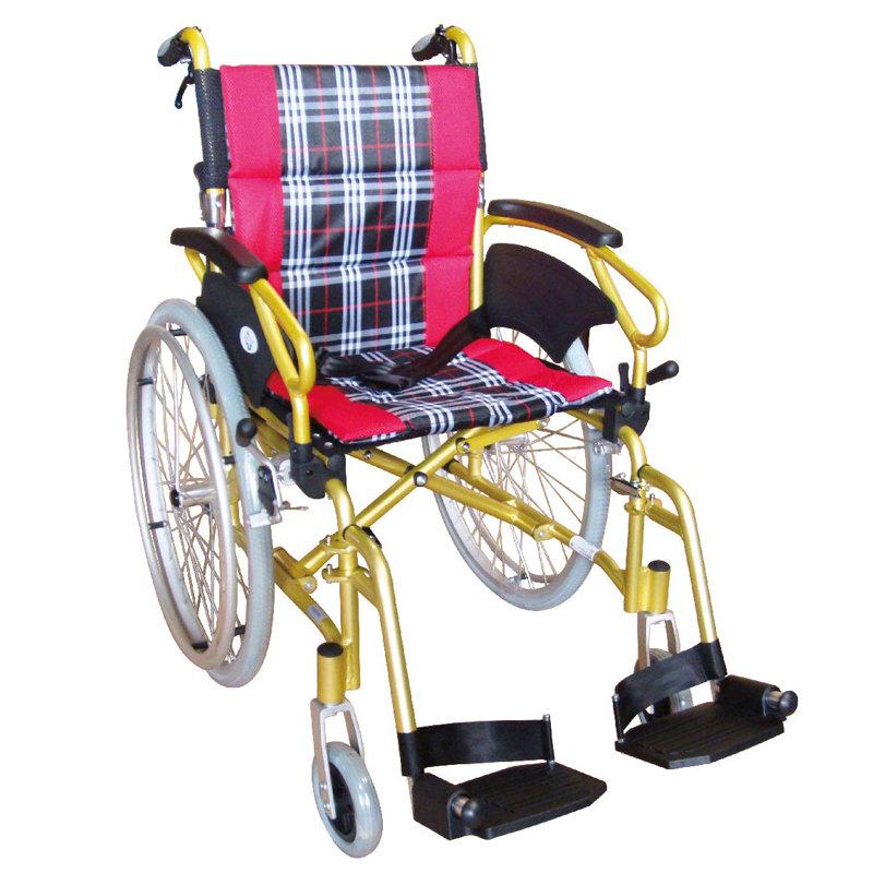 【醫康生活家】杏華 特製鋁輪椅-脊損型-折背 O14 (16吋/18吋)