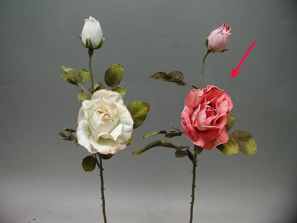 1花1苞 古典玫瑰-桃 / 人造花 空間 景觀 佈置 造景