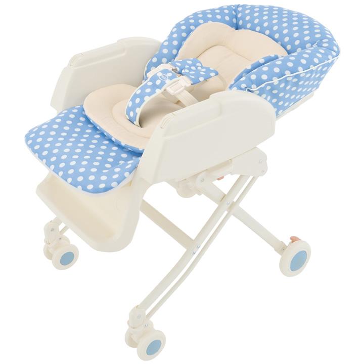 Aprica愛普力卡 - Nemyu DX 589 手動高低調節搖擺餐搖床椅 -氣泡藍