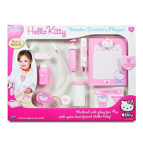 Hello Kitty 木製醫護組(扮家家酒/ 醫生)→FB姚小鳳