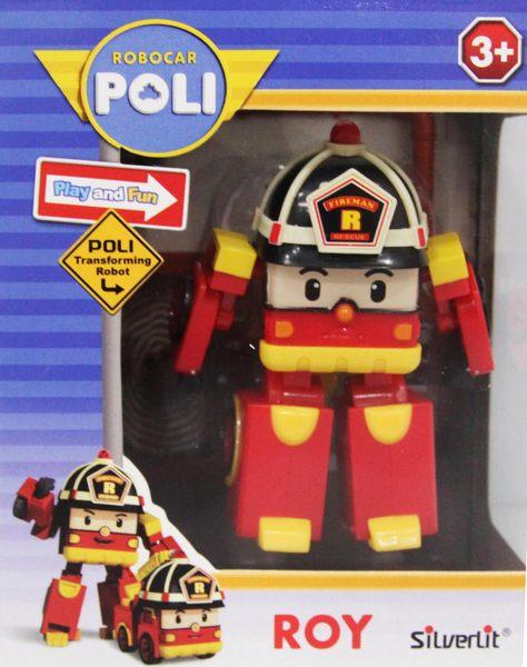 ROBOCAR POLI迷你變形羅伊/救援小英雄(變形車系列)-變形波力/可愛造形/可變形
