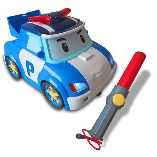 POLI 波力遙控指揮棒遊戲組/ROBOCAR/POLI/波力/救援小英雄/遙控車/警察車