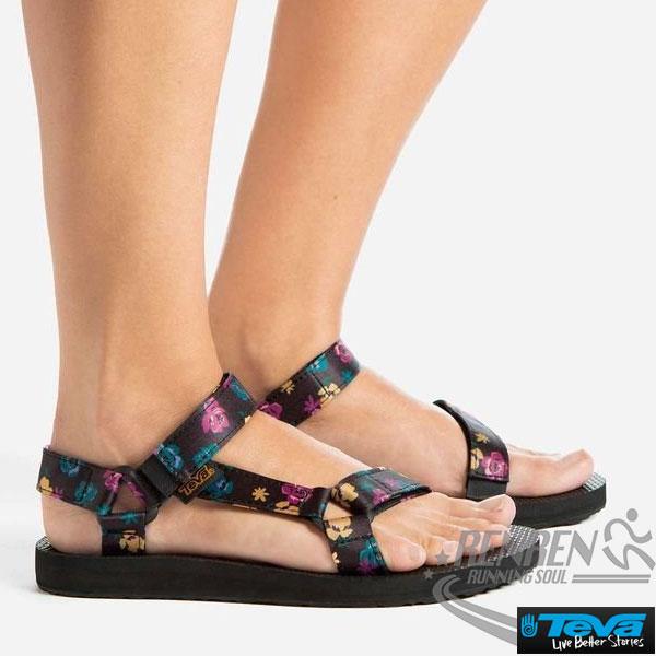 TEVA  女運動涼鞋 Original Sandal Floral (黑*繽紛花) 透氣排水性 耐磨抗菌