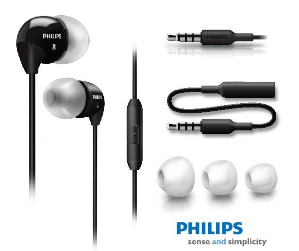 PHILIPS SHE3595 入耳式耳機麥克風 附手機專用 3.5mm接頭