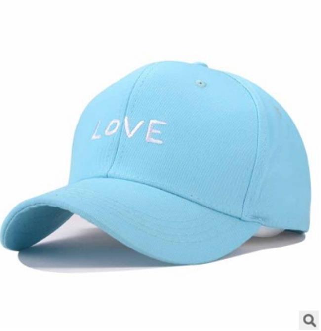 50%OFF【E013775H】帽子韓國LOVE鴨舌帽男彎沿遮陽防曬韓版字母情侶彎簷棒球帽女青年老帽