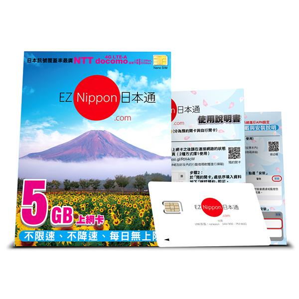 ★好禮三選一★EZ Nippon日本通5GB上網卡【葳豐數位商城】