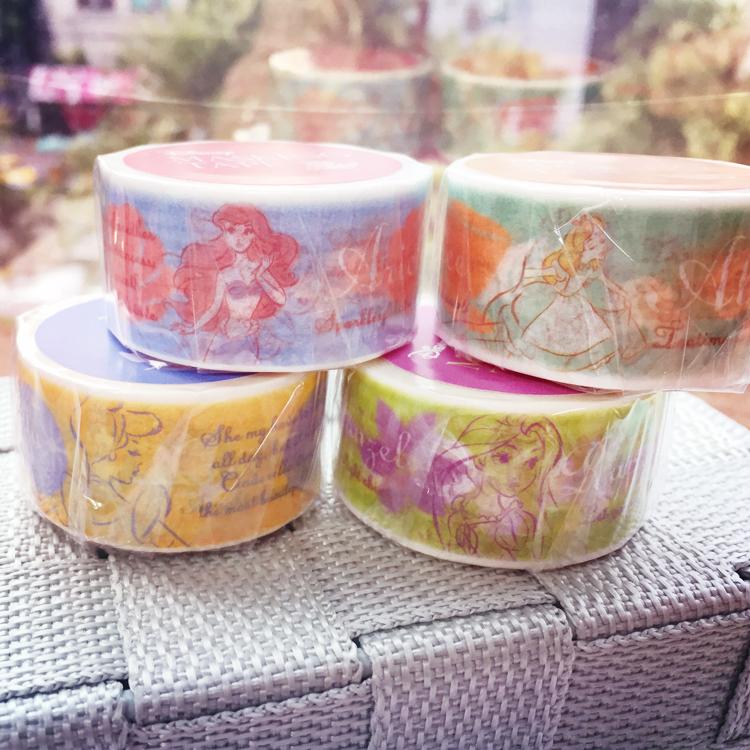PGS7 (現貨+預購) 迪士尼系列紙膠帶 - 迪士尼 公主 寬版 紙膠帶 裝飾 膠帶 愛麗絲 愛麗兒 小美人魚